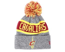 Cleveland Cavaliers Marl Knit Gray Beanie - New Era