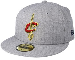 Cleveland Cavaliers Heather Grey Fitted - New Era