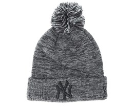 New York Yankees Marl Bobble Knit Grey Pom - New Era