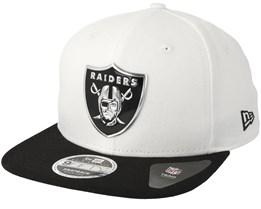 Oakland Raiders Logo Pack 9Fifty White/Black Snapback - New Era