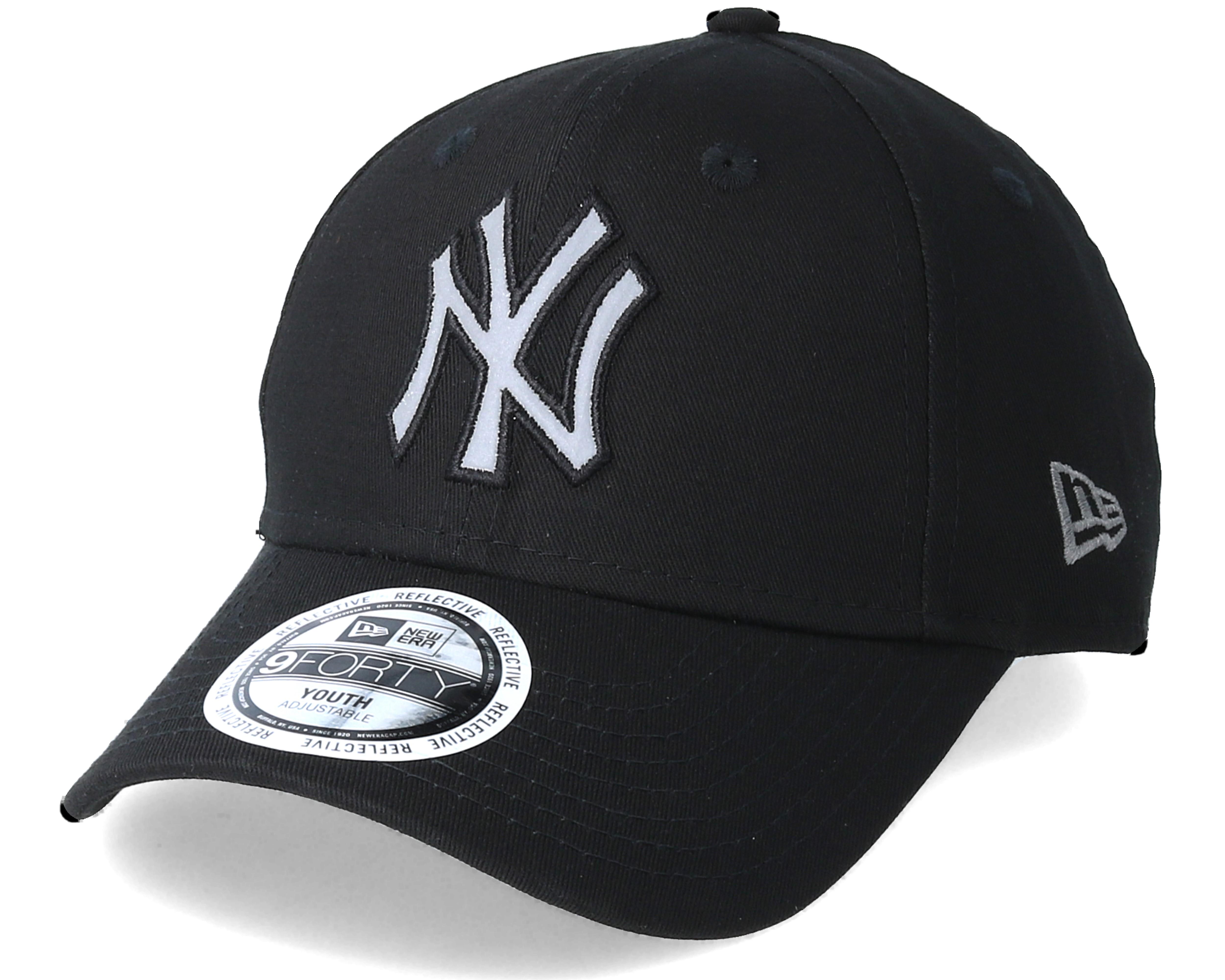 kids new york yankees junior reflect 940 black adjustable new era cap. Black Bedroom Furniture Sets. Home Design Ideas