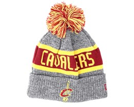 Cleveland Cavaliers Junior Marl Knit Gray Pom - New Era