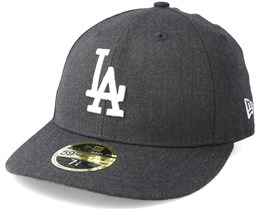 Los Angeles Dodgers Heather Low Profile 59Fifty Dark Grey Fitted - New Era