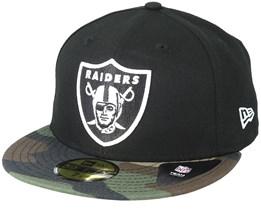 Oakland Raiders Contrast Camo Black Fitted - New Era