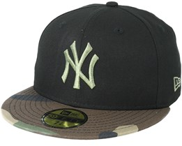 New York Yankees Contrast Camo Black Fitted - New Era