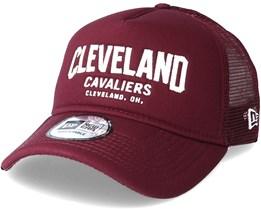 Cleveland Cavaliers Chainstitch Trucker Maroon Adjustable - New Era