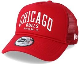 Chicago Bulls Chainstitch Trucker Scarlet Adjustable - New Era
