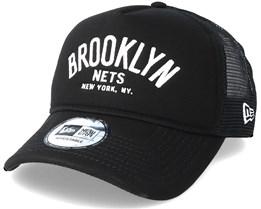 Brooklyn Nets Chainstitch Trucker Black Adjustable - New Era