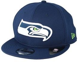Seattle Seahawks Team Mesh 9Fifty Navy Snapback - New Era