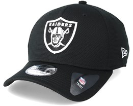 Oakland Raiders Sport Mesh 39Thirty Black Flexfit - New Era