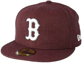 Boston Red Sox Season Heather 9Fifty Maroon Fitted - New Era