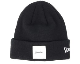 New York Yankees Satin Patch Knit Black Beanie - New Era