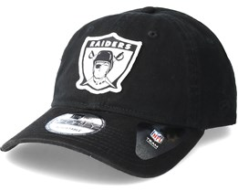 Oakland Raiders Patch 9Forty Black Adjustable - New Era