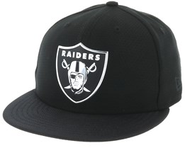 Oakland Raiders Black Coll 59Fifty Black Fitted - New Era