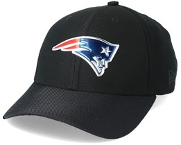 New England Patriots Black Coll 39Thirty Black Flexfit - New Era