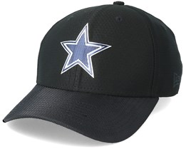 Dallas Cowboys Black Coll 39Thirty Black Flexfit - New Era