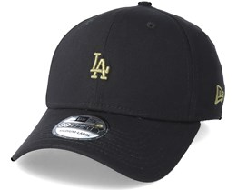 Los Angeles Dodgers Mini Logo 39Thirty Black Flexfit - New Era