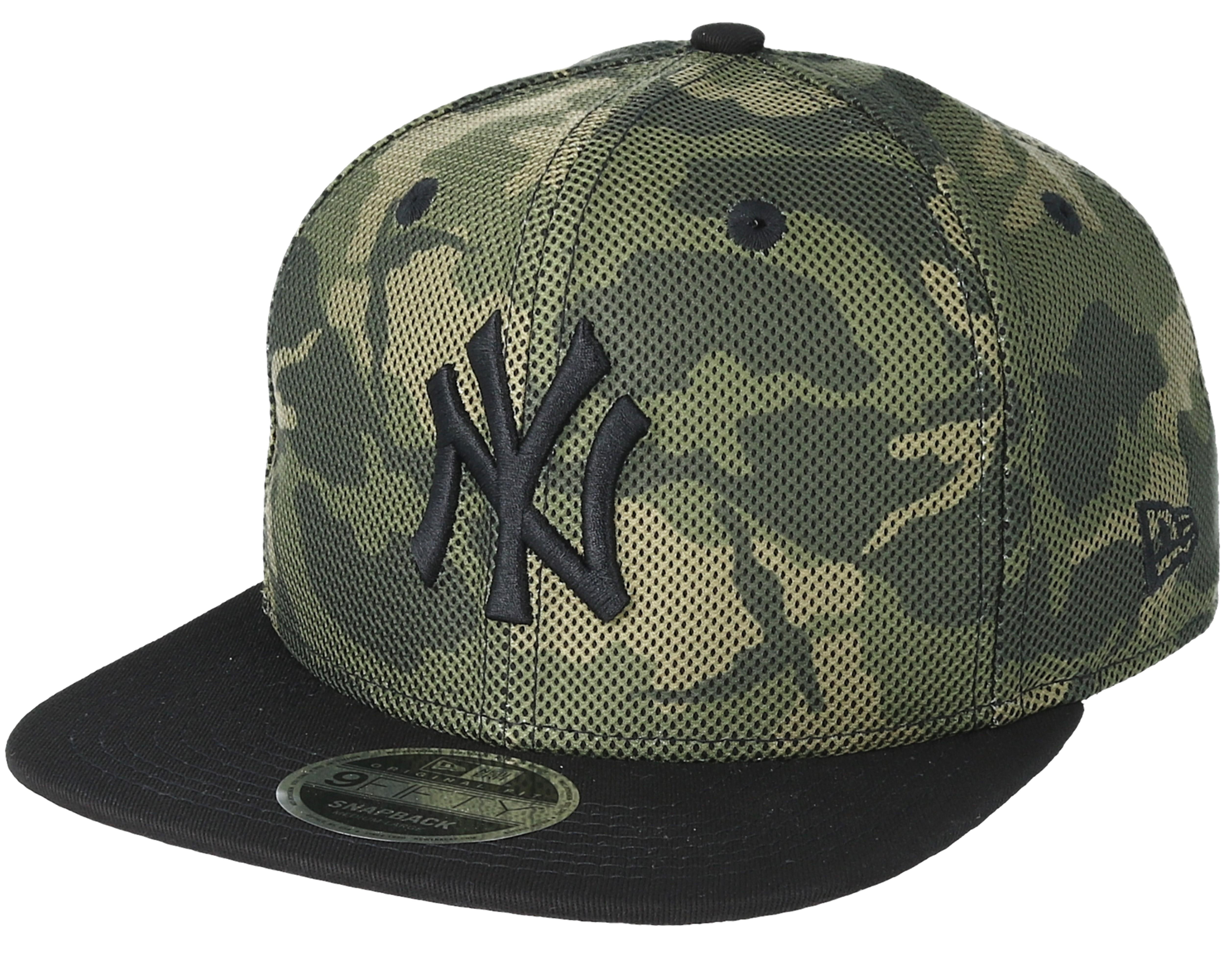 NY Yankees New Era 9 FIFTY mesh overlay NEYYAN Black on Black Baseball Cap