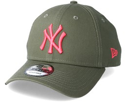 Los Angeles Dodgers League Essential 9Forty Olive/Pink Adjustable - New Era