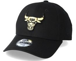 Chicago Bulls Golden 9Forty Black Adjustable - New Era