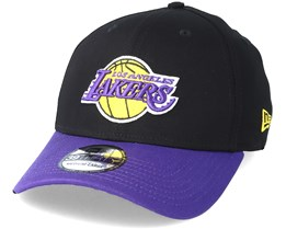 Los Angeles Lakers Black Base 39Thirty Black Flexfit - New Era