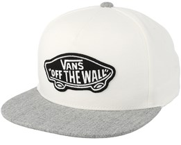 Classic Patch White/Heather Grey Snapback - Vans