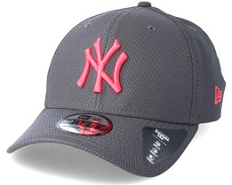 New York Yankees Diamond Pop 39Thirty Grey Flexfit - New Era