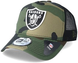 Oakland Raiders Team 9 Forty Green Camo Trucker - New Era