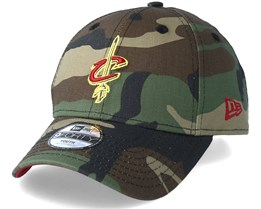 Kids Cleveland Cavaliers Team 9Forty Green Camo Adjustable - New Era