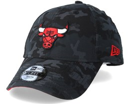 Kids Chicago Bulls Team 9Forty Charcoal Camo Adjustable - New Era