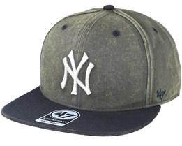 New York Yankees Navy Cement Snapback - 47 Brand
