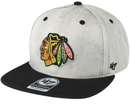 Chicago Blackhawks Clean Up Gray Cement Snapback - 47 Brand