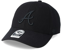 Atlanta Braves Mvp Black/Black Adjustable - 47 Brand