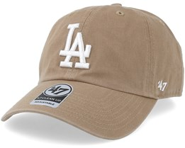 Los Angeles Dodgers Clean Up Khaki/White Adjustable - 47 Brand