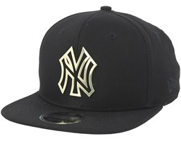 New York Yankees Metal Badge A-Frame Black Snapback - New Era