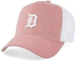 Detroit Tigers Micro Cord A-Frame Pink/White Trucker - New Era