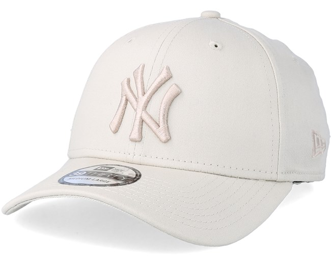 New York Yankees League Essential 39Thirty Stone White Flexfit - New ... 3255a472910