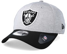 Oakland Raiders Jersey Hex 39Thirty Grey/Black Flexfit - New Era