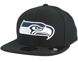 Seattle Seahawks Dryera Tech 9Fifty Black Snapback - New Era