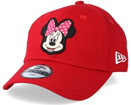 Kids Minnie Mouse Disney Patch 9Forty Red Adjustable - New Era