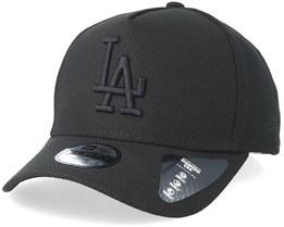 Kids Los Angeles Dodgers Diamond A-Frame Black/Black Adjustable - New Era