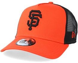 San Francisco Giants Reverse Orange/Black Trucker - New Era