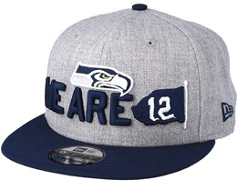 Seattle Seahawks 2018 NFL Draft On-Stage Grey/Navy Snapback - New Era