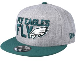 Philadelphia Eagles 2018 NFL Draft On-Stage Grey/Teal Snapback - New Era