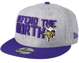 Minnesota Vikings 2018 NFL Draft On-Stage Grey/Purple Snapback - New Era