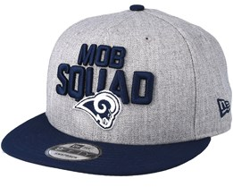 Los Angeles Rams 2018 NFL Draft On-Stage Grey/Navy Snapback - New Era