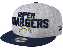 Los Angeles Chargers 2018 NFL Draft On-Stage Grey/Navy Snapback - New Era