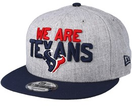 Houston Texans 2018 NFL Draft On-Stage Grey/Navy Snapback - New Era