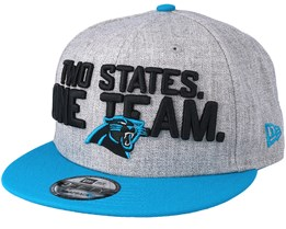 Carolina Panthers 2018 NFL Draft On-Stage Grey/Teal Snapback - New Era