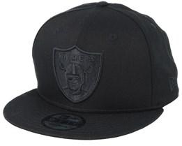 Oakland Raiders 9Fifty Black/Black Snapback - New Era